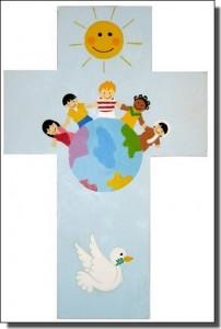 Risti Maailman lapset sininen